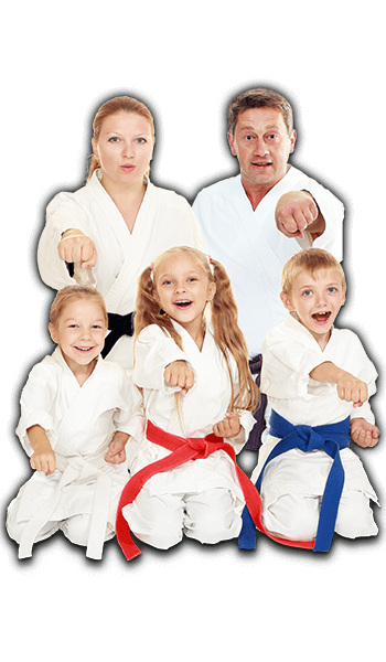 Martial Arts Lessons for Families in Cypress TX - Sitting Group Family Banner