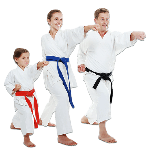 Martial Arts Lessons for Families in Cypress TX - Man and Daughters Family Punching Together