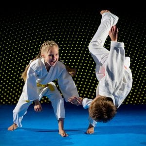 Martial Arts Lessons for Kids in Cypress TX - Judo Toss Kids Girl